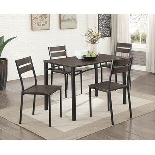 Tunstall 5 Piece Extendable Dining Set Williston Forge