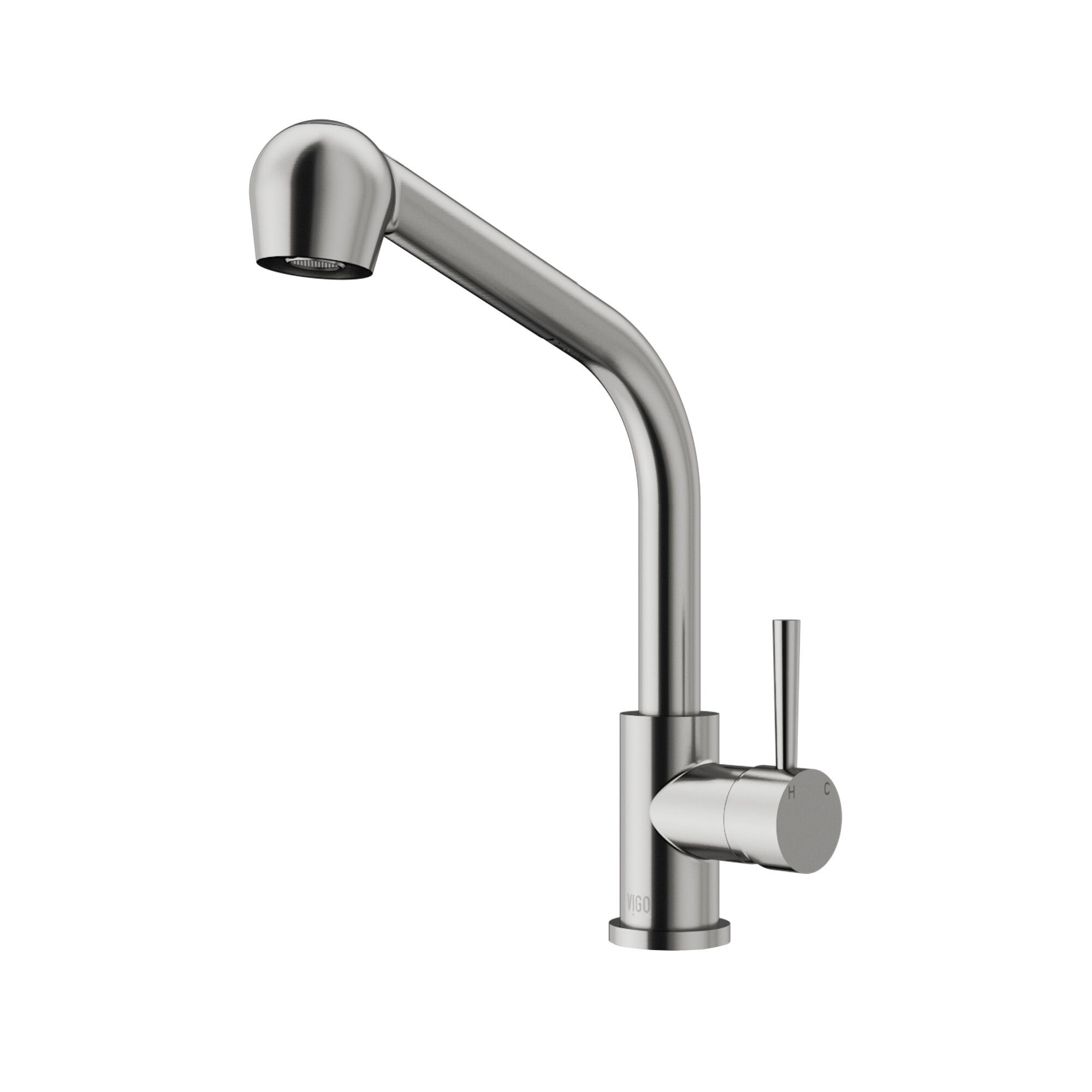 down chrome faucet front kitchen pull botham out single hole