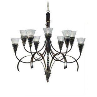 Zanin Lighting Inc. Siberia 10-Light Shaded Chandelier