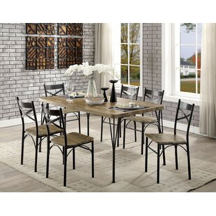 Gracie Oaks Berklee Wooden 7 Piece Counter Height Dining Table Set