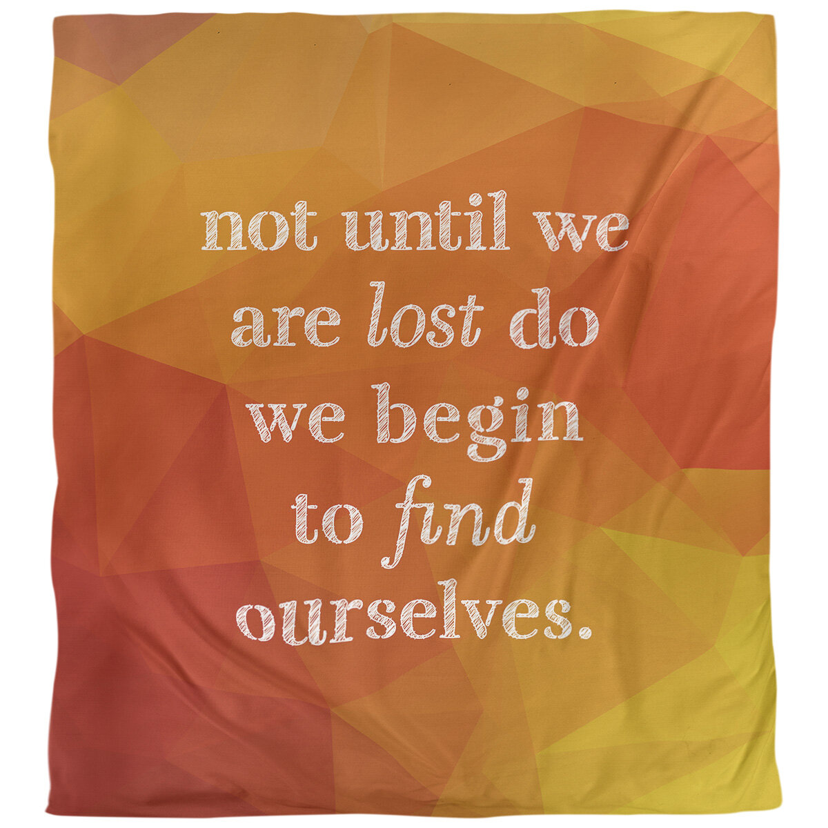 East Urban Home Find Yourself Quote Single Duvet Cover Wayfair