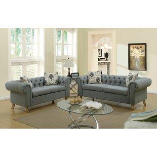 Alcott Hill Champaign 2 Piece Living Room Set