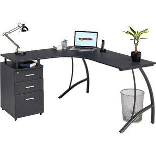 Ozella L-Shape Desk By Mercury Row