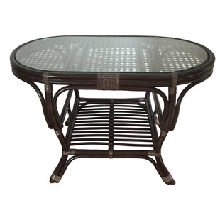 Alisa Rattan Coffee Table with Magazine Rack by Rattan Wicker Home Furniture