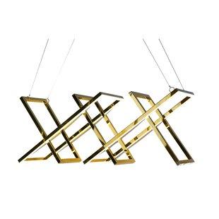 Everly Quinn Gile LED Geometric Pendant