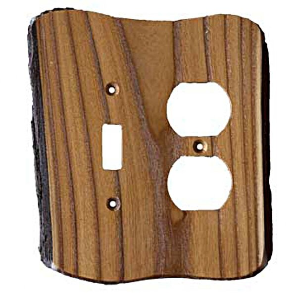 Sierra Lifestyles Rustic 2 Gang Toggle Light Switch Duplex Outlet Combination Wall Plate Reviews Wayfair