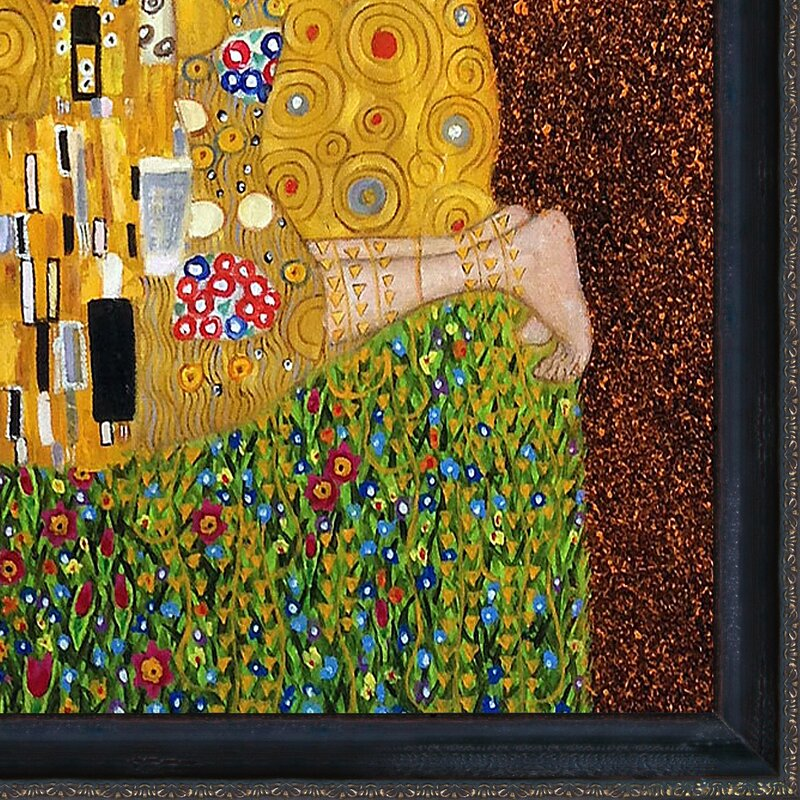 Tori Home The Kiss by Gustav Klimt Framed Painting & Reviews   Wayfair