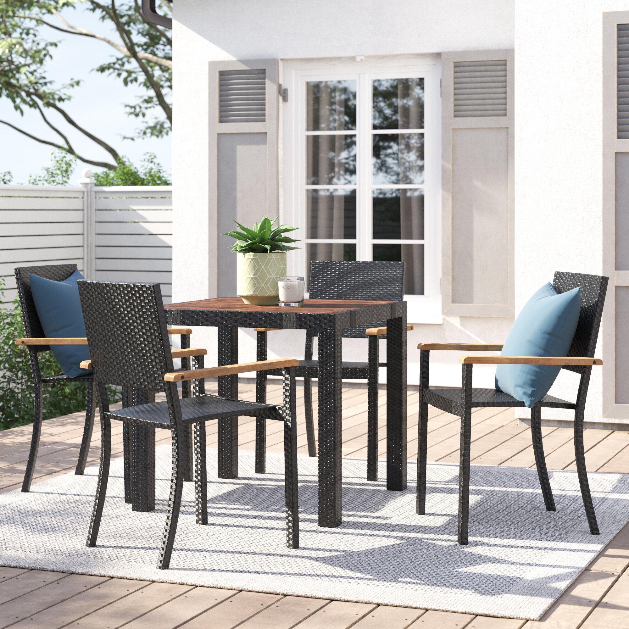 Zipcode Design Kaelyn 4 Seater Dining Set Reviews Wayfair Co Uk