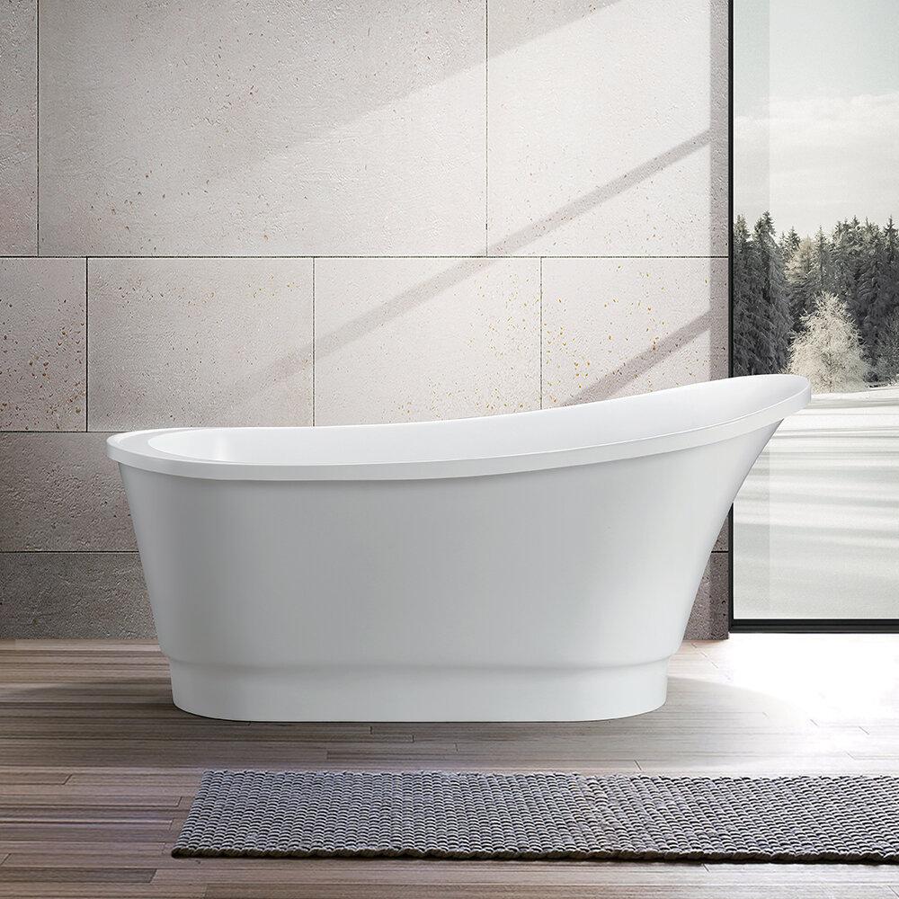 Vanity Art 67 X 31 Freestanding Soaking Bathtub Reviews Wayfair