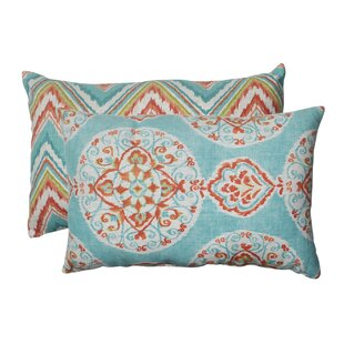 Mirage and Chevron Lumbar Pillow (Set of 2)