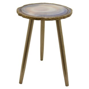 Mercer41 Larrison Wood and Glass End Table