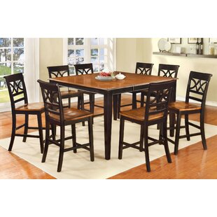 Odis 9 Piece Drop Leaf Dining Set Canora Grey