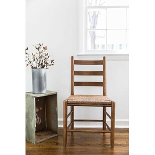 Thor Ladder Back Solid Wood Dining Chair by Gracie Oaks