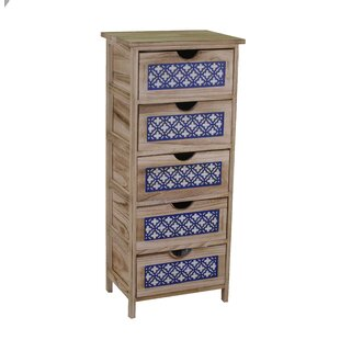 Pettegrow 5 Drawers Chest By World Menagerie