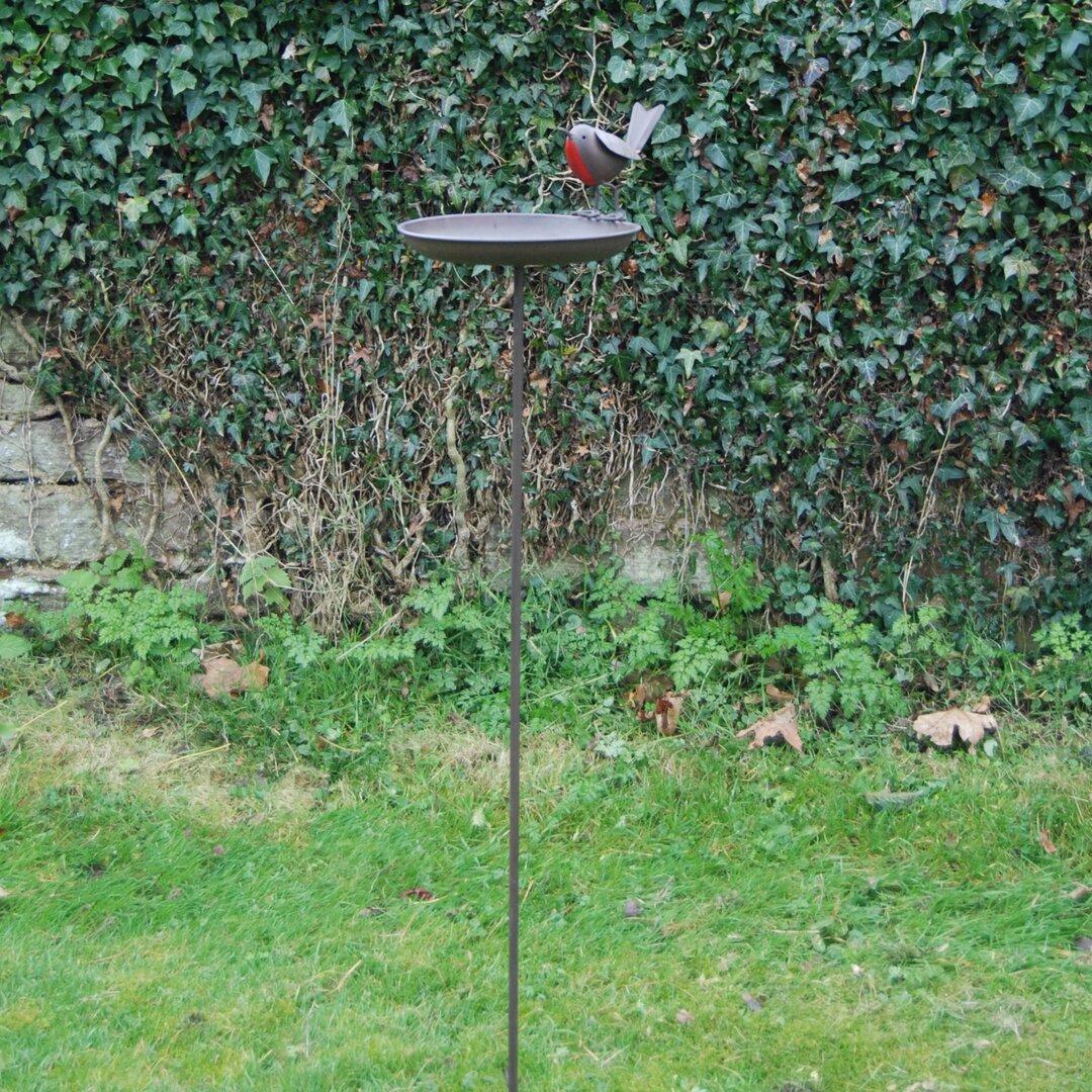 Robin Birdbath with stake
