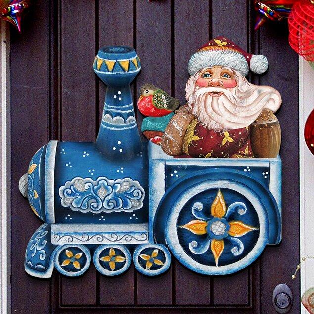 The Holiday Aisle Gallery Santa On Train Wall Decor Wayfair