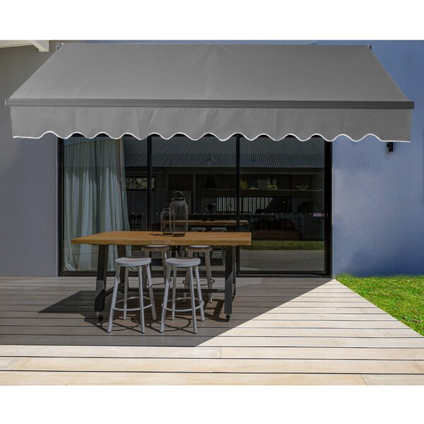 Aleko Fabric Retractable Standard Patio Awning & Reviews ...