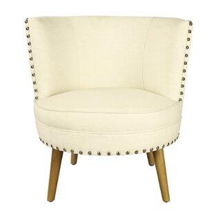 Bungalow Rose Pheasant Hill Linen Leisure Barrel Chair