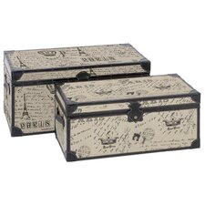 Paris Script 2 Piece Trunk Set by Aspire