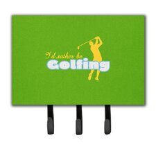 I'd Rather Be Golfing Man on Green Leash Holder and Key Hook by Caroline's Treasures