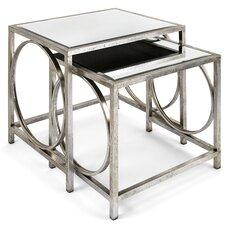 Sepulveda Mirror 2 Piece Nesting Tables by Willa Arlo Interiors