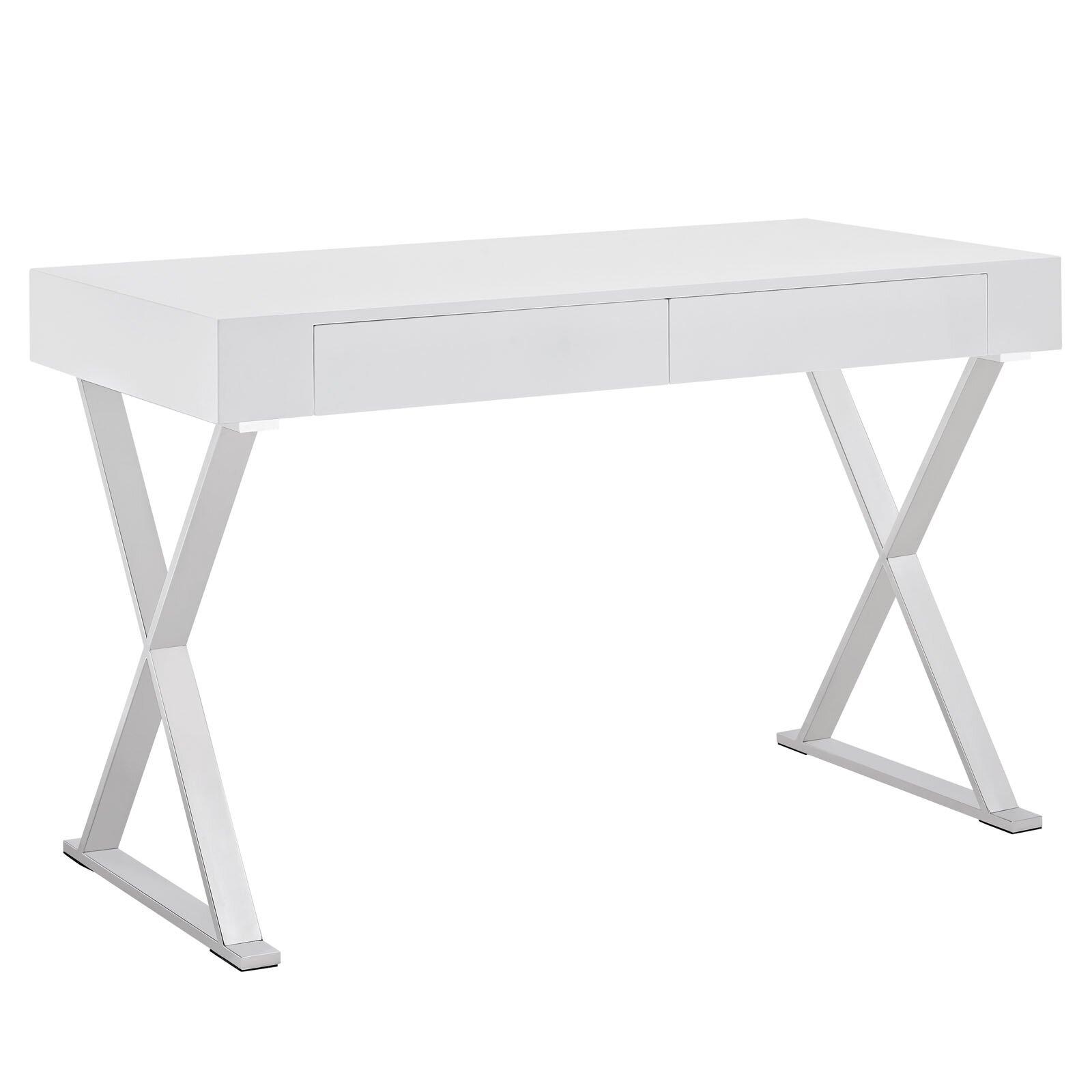 Design White Writing Desk sector writing desk reviews allmodern desk