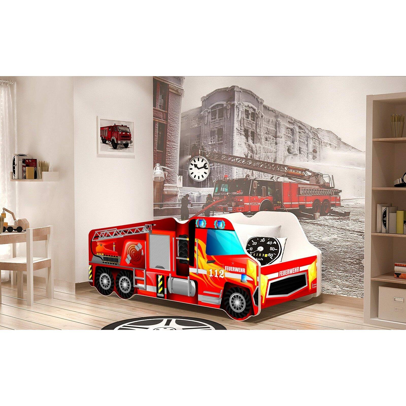 relita feuerwehr autobett 70 x 140 cm bewertungen. Black Bedroom Furniture Sets. Home Design Ideas