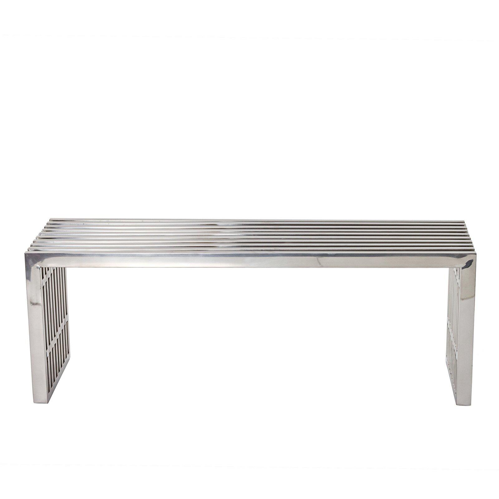 gunnarstainlesssteelbench - wade logan gunnar stainless steel bench reviews wayfair