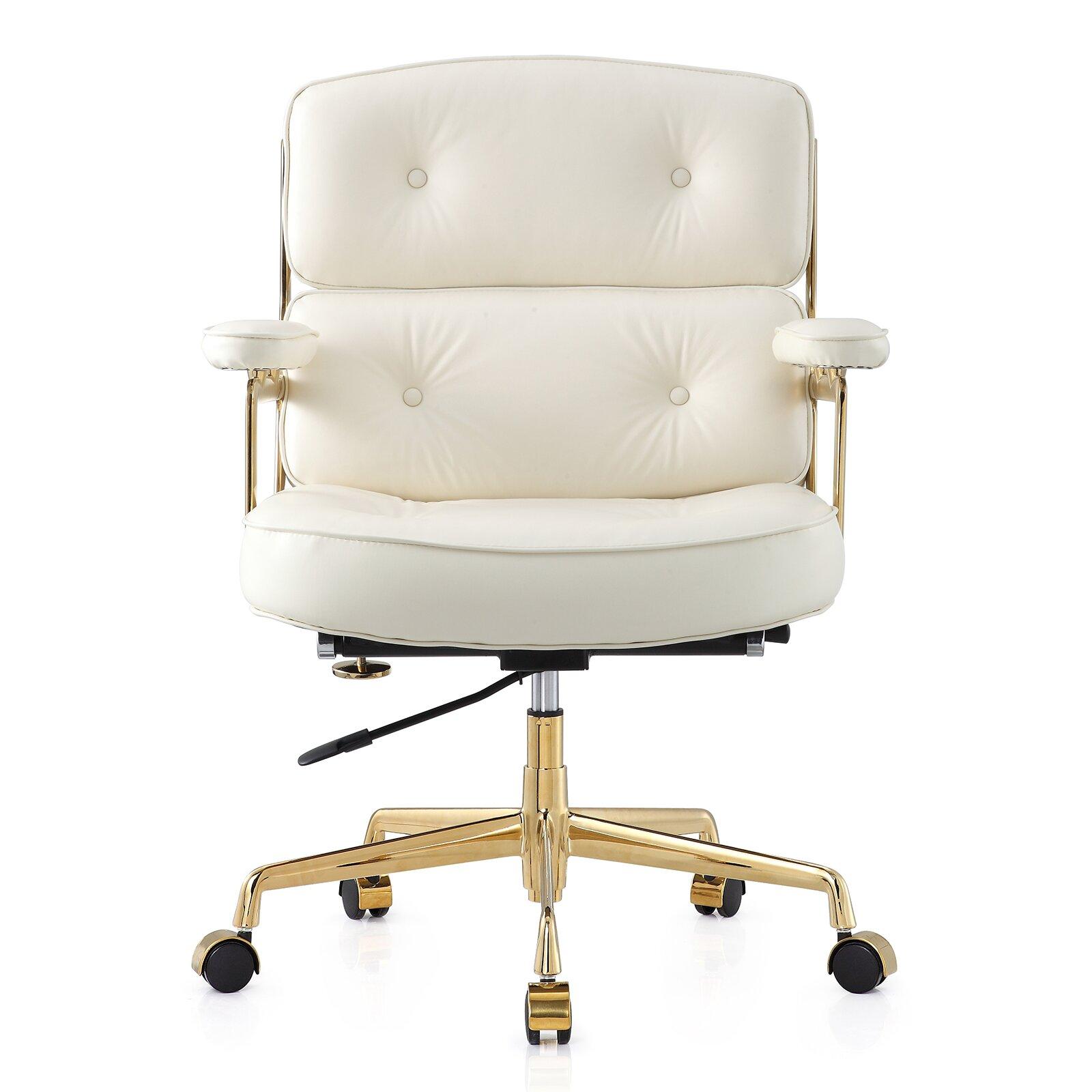 Tan leather office chair - 16 Leather Office Chair With Lumbar Support