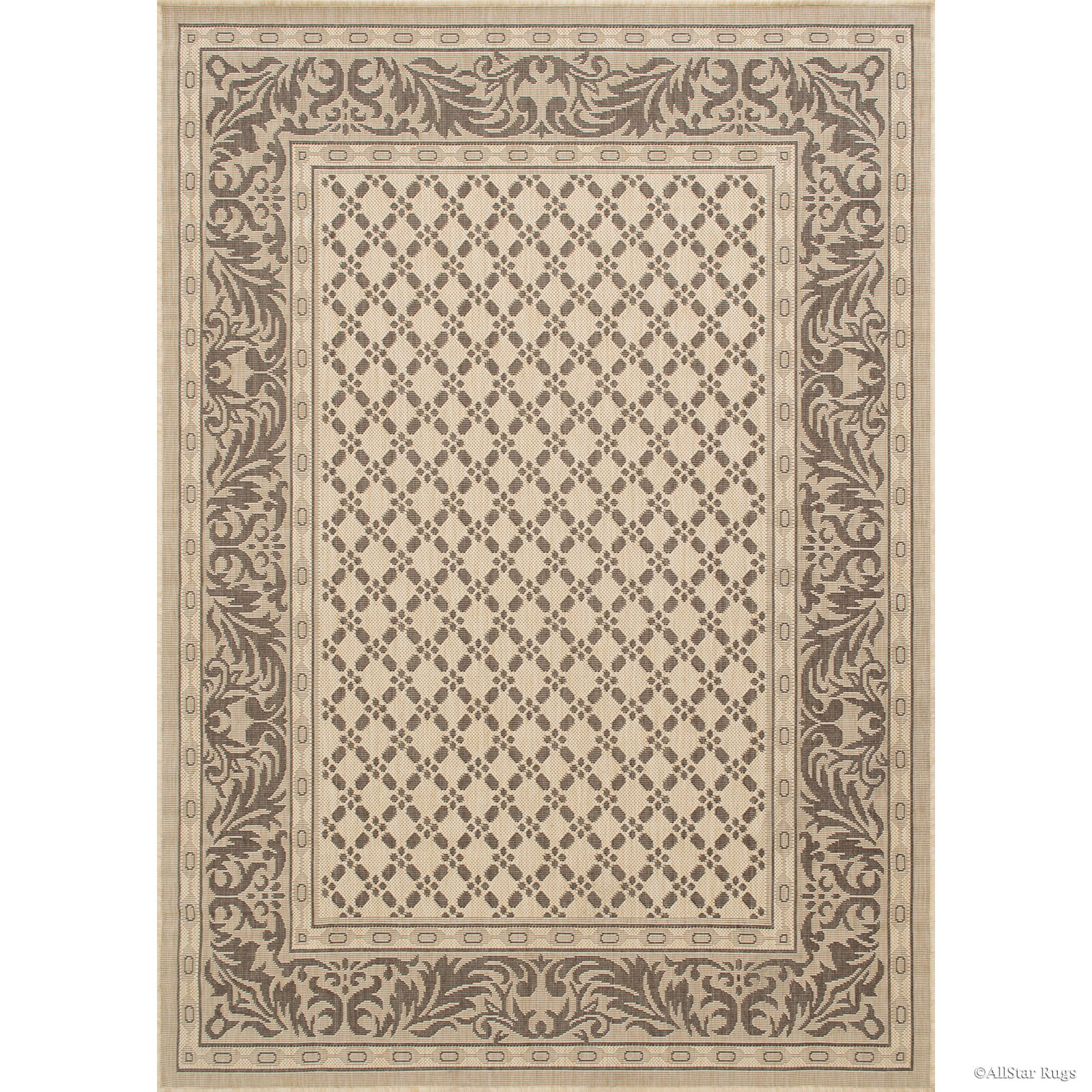 Charlton home benningfield all weather beige indoor for All weather patio rugs