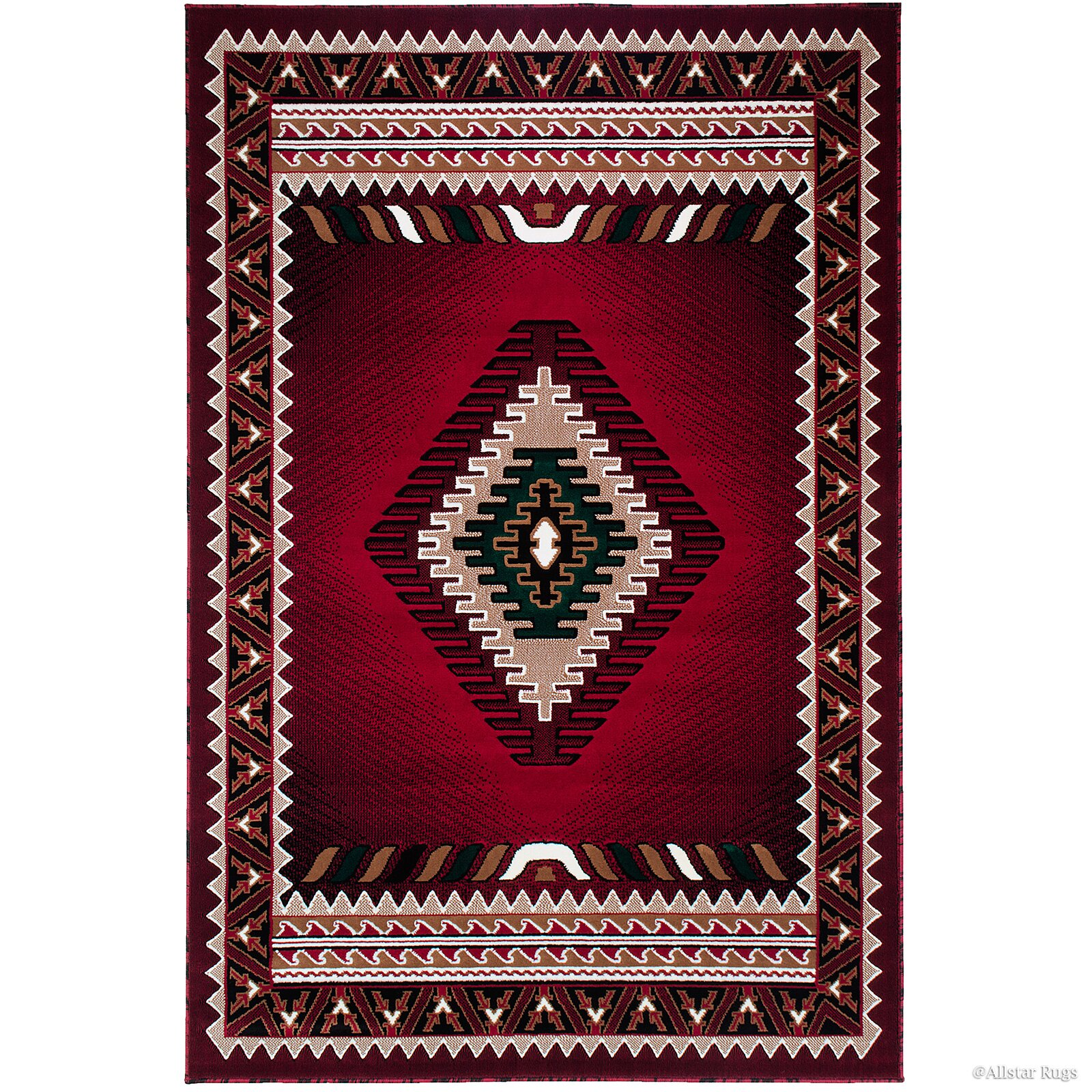 Loon Peak Iberide High-Quality Woven Red Area Rug