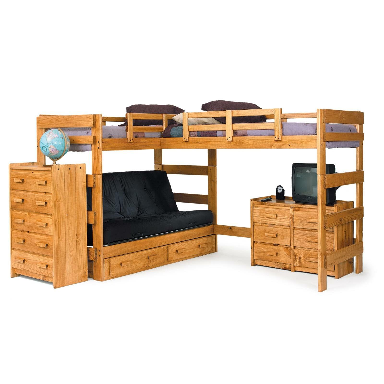 L Shaped Bunk Bed Customizable Bedroom Set