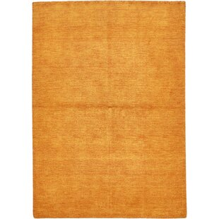 Taul Hand-Knotted Wool Orange Area Rug by Latitude Run