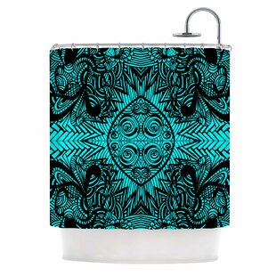 The Elephant Walk Ethnic Shower Curtain