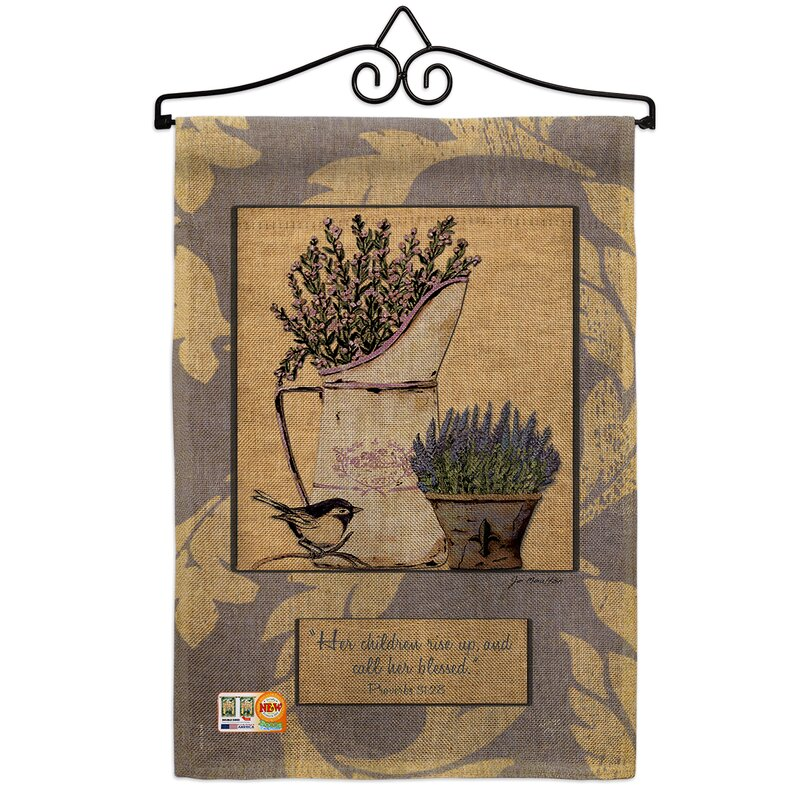 Breeze Decor Proverbs 31 28 2 Sided Burlap 19 X 13 In Garden Flag Wayfair