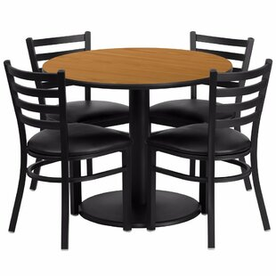 Amato 5 Piece Dining Set Red Barrel Studio