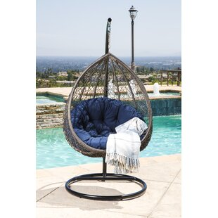 Bungalow Rose Ostrowski Outdoor Wicker Swing Chair with Stand