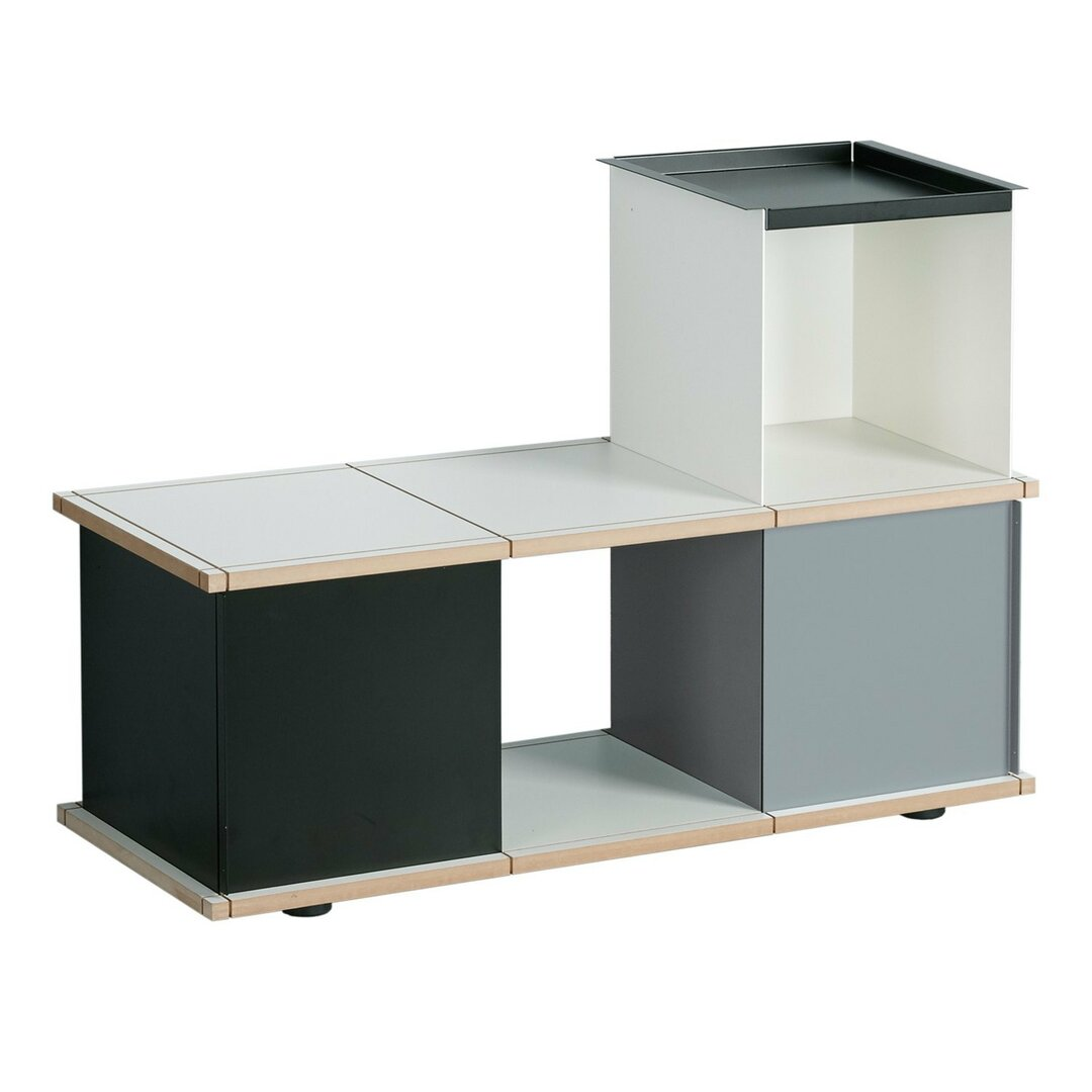 Chon Wood and Metal Storage Bench