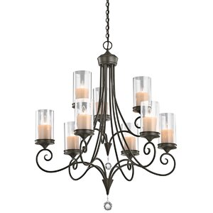 Laurel 9-Light Candle-Style Chandelier