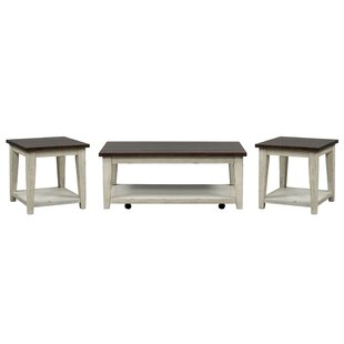 Lexie 3 Piece Coffee Table Set August Grove Top Reviews