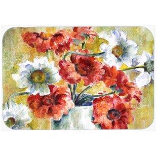 Flowers Glass Cutting Board