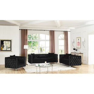Cade 3 Piece Living Room Set by Mercer41