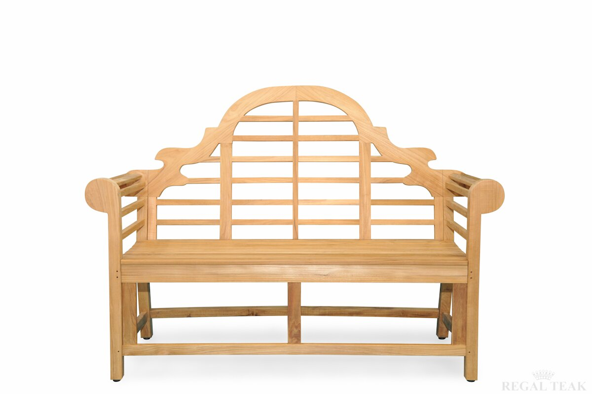 Teak Marlboro Lutyens Garden Bench
