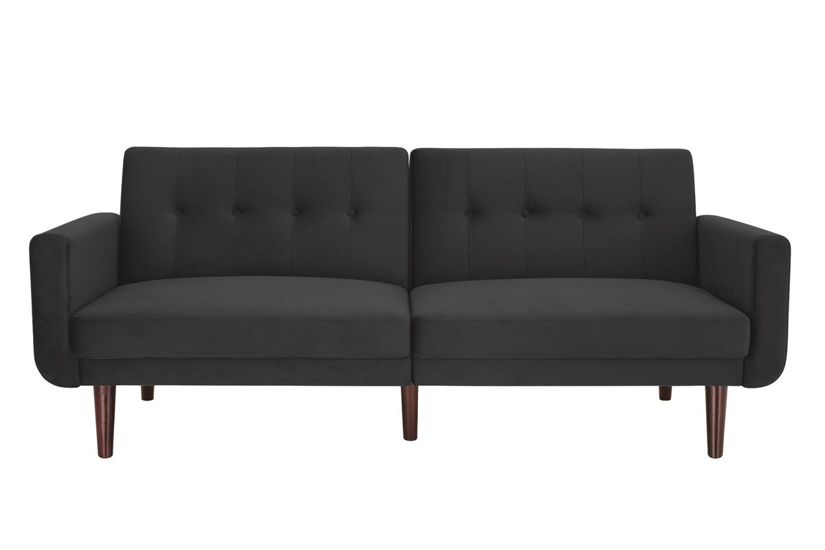 George Oliver Annsville Modern Velvet Convertible Sofa & Reviews