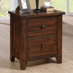 Olmsted Wooden 2 Drawer Nightstand by Williston Forge