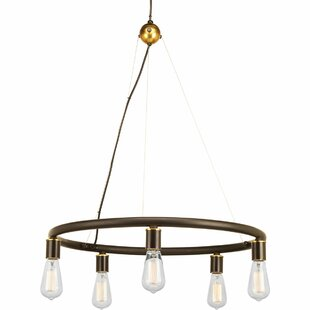 Terrest 5 Light Wagon Wheel Chandelier by..