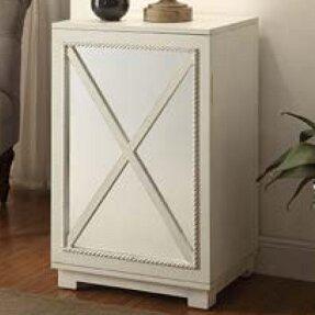 Criss-cross Door Wood Cabinet by Lamps Per Se