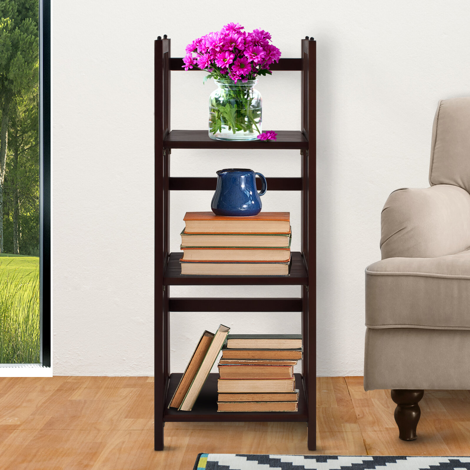Casual Home 3 Shelf Folding Standard Bookcase Reviews