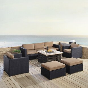 Dinah 7 Piece Sofa Seating Group with Cushions