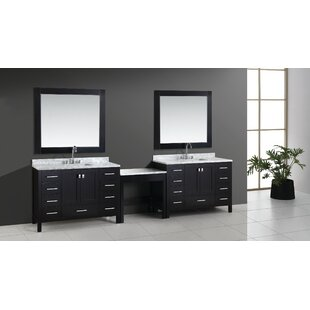 Middletown 126 Double Bathroom Vanity Set with Mirror by Andover Mills